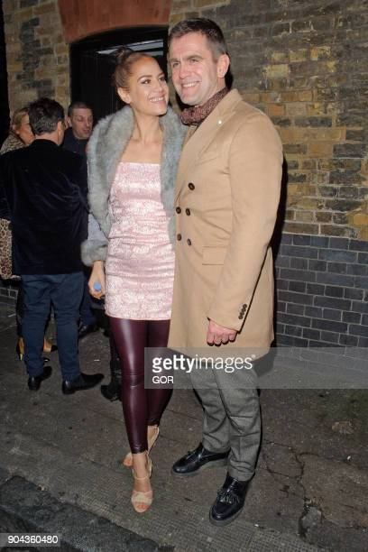 Scott Maslen and wife Estelle sighting at the Chiltern Firehouse on January 12 2018 in London England