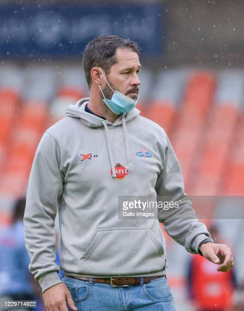 Scott Mathie Head coach of Tafel Lager Griquas during the Super Rugby Unlocked match between Toyota Cheetahs and Tafel Lager Griquas at Toyota...