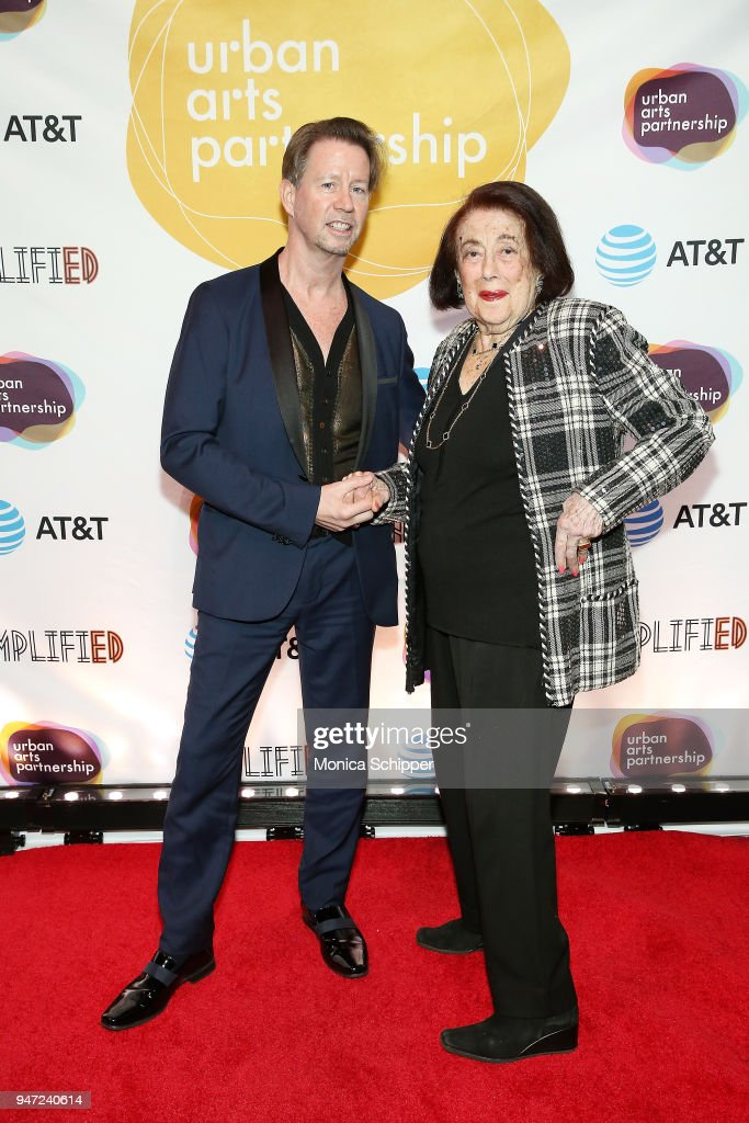 Scott McArthur (L) and Lucy Jarvis attend the Urban Arts Partnership's AmplifiED Gala at The Ziegfeld Ballroom on April 16, 2018 in New York City.