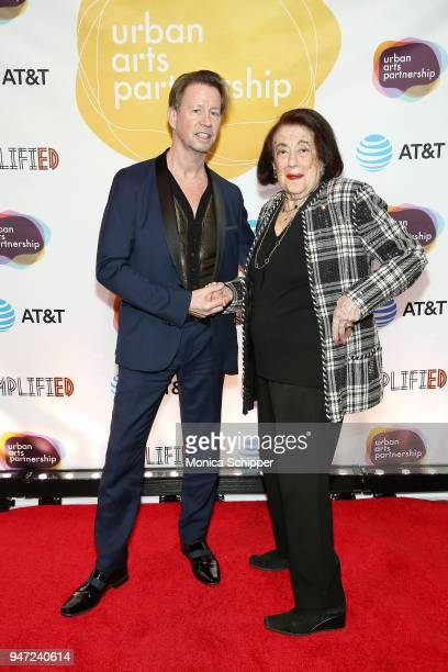 Scott McArthur and Lucy Jarvis attend the Urban Arts Partnership's AmplifiED Gala at The Ziegfeld Ballroom on April 16 2018 in New York City