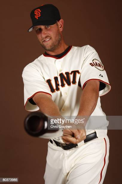 Scott McClain of the San Francisco Giants poses for a photo during Spring Training Photo Day at Scottsdale Stadium in Scottsdale Arizona