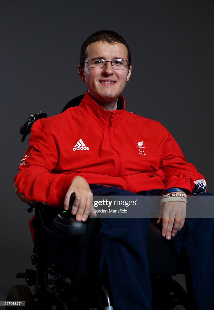 Scott McCowan, a member of the ParalympicsGB Boccia team, poses for a portrait during the Paralympics GB Media Day at Park Plaza Westminster Bridge Hotel on July 16, 2016 in London, England.