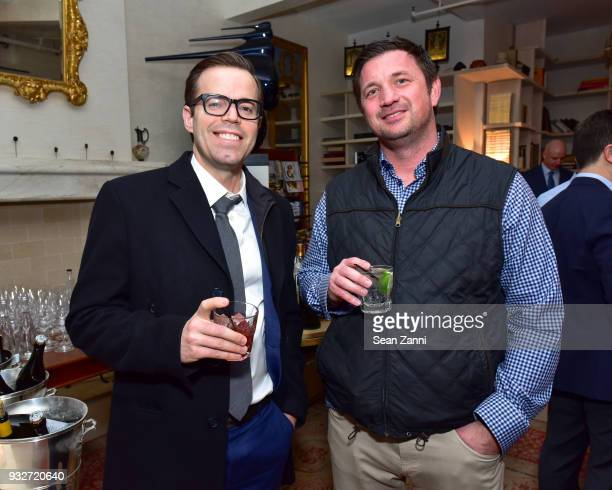 Scott McDavid and James Clark attend 'The Initiation' Book Launch at Bouley TK on March 15 2018 in New York City