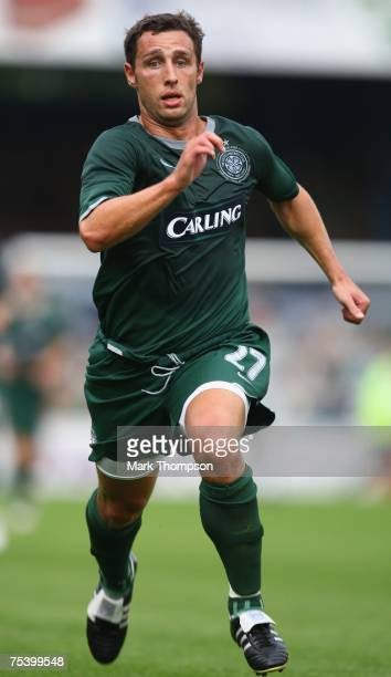 Scott McDonald of Celtic in action during the PreSeason Friendly match between Peterborough United and Celtic at London Road on July 13 in...