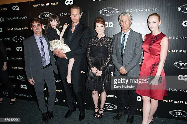 Scott McGehee Onata Aprile Alexander Skarsgard Julianne Moore David Siegel and Joanna Vanderham attend a screening hosted by The Cinema Society With...