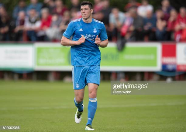 Scott McKenna of Aberdeen during the Brechin City v Aberdeen Pre Season Friendly at Glebe Park on July 23 2017 in Brechin Scotland