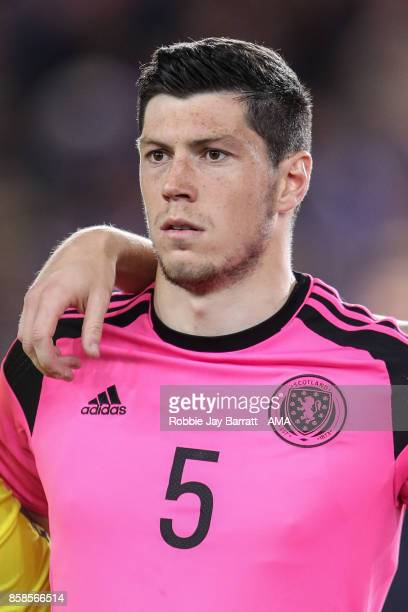 Scott McKenna of Scotland U21 during the UEFA European Under 21 Championship Qualifiers fixture between England U21 and Scotland U21 at Riverside...