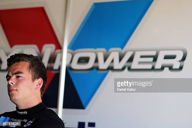 Scott McLaughlin driver of the Valvoline Racing GRM Volvo during the top 10 shootout for the Gold Coast 600 which is round 12 of the V8 Supercars...