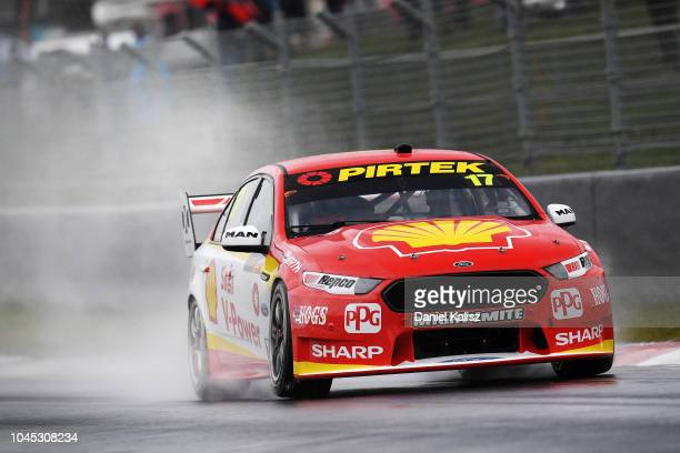 Scott McLaughlin drives the Shell VPower Racing Team Ford Falcon FGX during practice ahead of the Bathurst 1000 which is part of the Supercars...