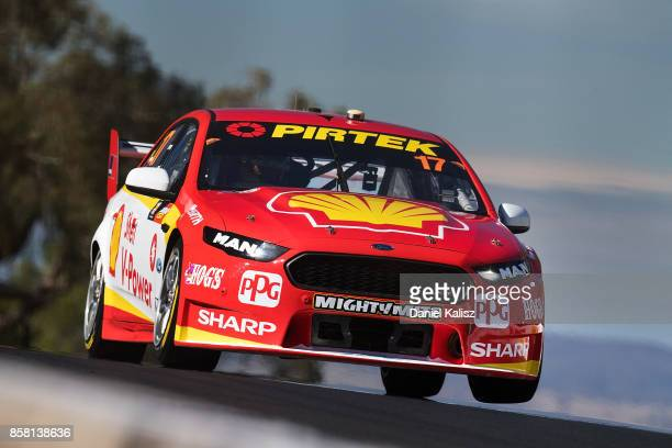 Scott McLaughlin drives the Shell VPower Racing Team Ford Falcon FGX during qualifying ahead of this weekend's Bathurst 1000 which is part of the...