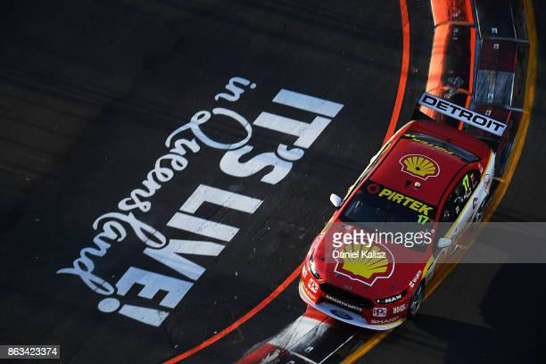 Scott McLaughlin drives the Shell VPower Racing Team Ford Falcon FGX during practice 3 for the Gold Coast 600 which is part of the Supercars...