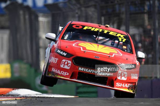 Scott McLaughlin drives the Shell VPower Racing Team Ford Falcon FGX during race 22 for the Gold Coast 600 which is part of the Supercars...