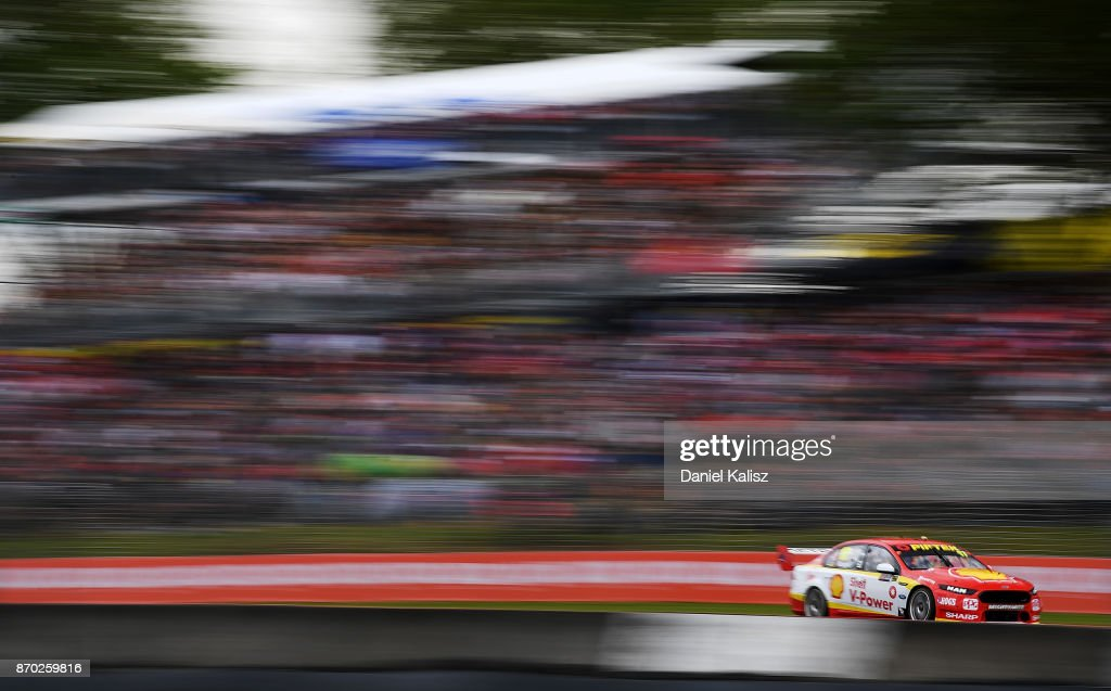 Scott McLaughlin drives the #17 Shell V-Power Racing Team Ford Falcon FGX during qualifying for race 24 for the Auckland SuperSprint, which is part of the Supercars Championship at Pukekohe Park Raceway on November 5, 2017 in Pukekohe, New Zealand.