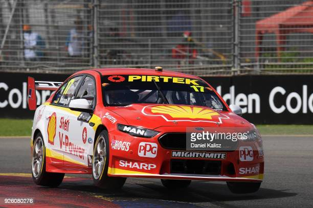 Scott McLaughlin drives the Shell VPower Racing Team Ford Falcon FGX during qualifying for Supercars Adelaide 500 on March 2 2018 in Adelaide...