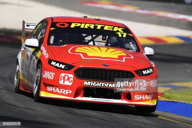 Scott McLaughlin drives the Shell VPower Racing Team Ford Falcon FGX during race 1 for the Supercars Adelaide 500 on March 2 2018 in Adelaide...