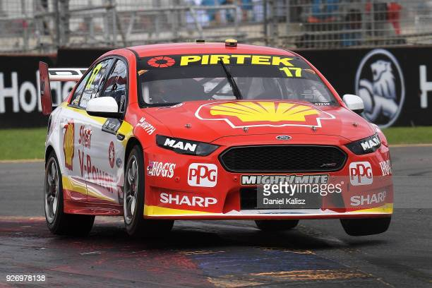 Scott McLaughlin drives the Shell VPower Racing Team Ford Falcon FGX during race 2 for the Supercars Adelaide 500 on March 2 2018 in Adelaide...