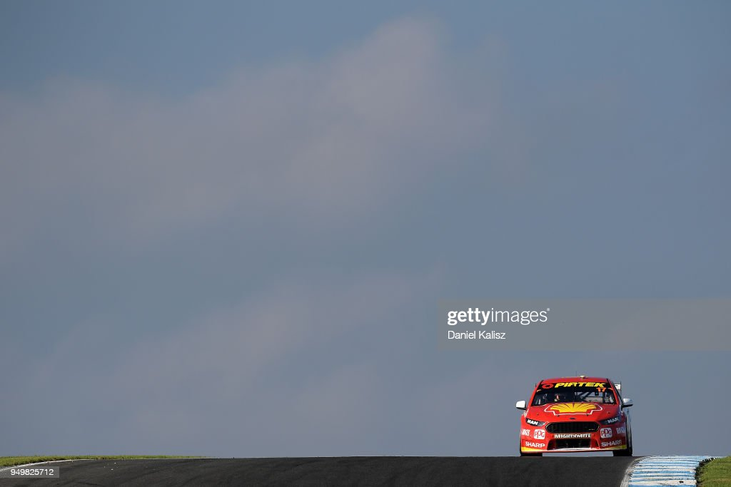 Scott McLaughlin drives the #17 Shell V-Power Racing Team Ford Falcon FGX during race 10 for the Supercars Phillip Island 500 at Phillip Island Grand Prix Circuit on April 22, 2018 in Phillip Island, Australia.