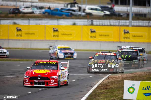 Scott McLaughlin drives the Shell VPower Racing Team Ford Mustang during race 2 of The Bend Supersprint round of the 2020 Supercars Championship at...
