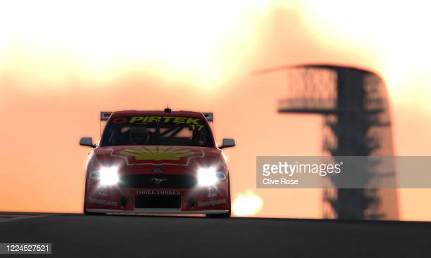 Scott McLaughlin drives the Shell VPower Racing Team Ford Mustang during practice at round 7 of the Supercars All Stars Eseries at Circuit of the...