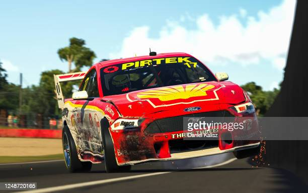 Scott McLaughlin drives the Shell V-Power Racing Team Ford Mustang during round 10 of the Supercars All Stars Eseries at Mount Panorama, Bathurst on...