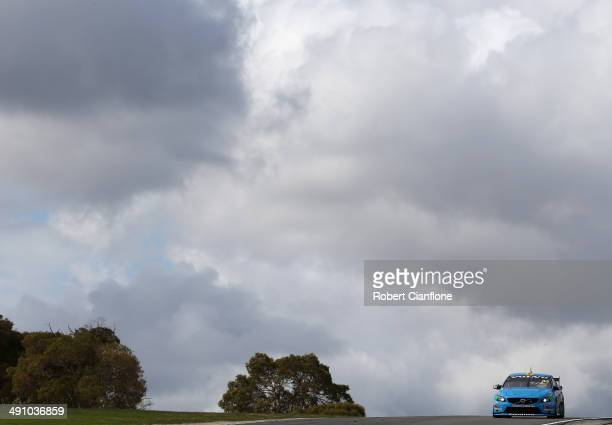Scott McLaughlin drives the Valvoline Racing GRM Volvo during practice ahead of the Perth 400 which is round five of the V8 Super Championship Series...