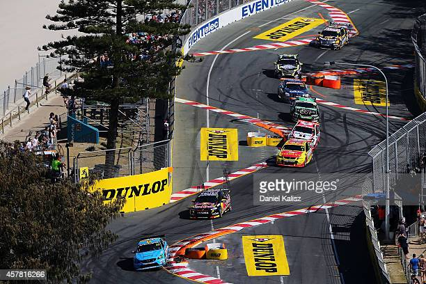 Scott McLaughlin drives the Valvoline Racing GRM Volvo during the race for the Gold Coast 600 which is round 12 of the V8 Supercars Championship...
