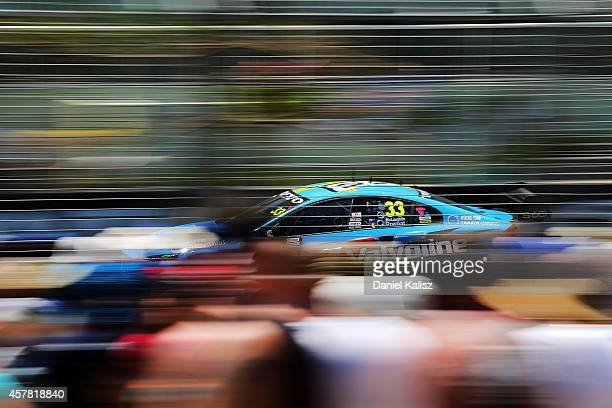 Scott McLaughlin drives the Valvoline Racing GRM Volvo during the top ten shootout for the Gold Coast 600 which is round 12 of the V8 Supercars...
