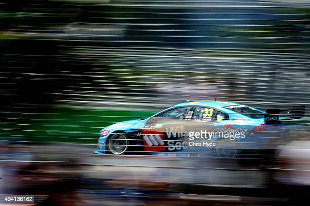 Scott McLaughlin drives the Wilson Security Racing GRM Volvo during qualifying for Race 27 at the Gold Coast 600 which is part of the V8 Supercars...