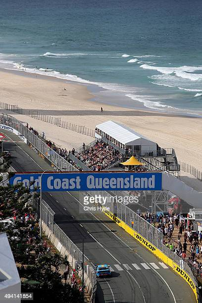 Scott McLaughlin drives the Wilson Security Racing GRM Volvo during Race 27 at the Gold Coast 600 which is part of the V8 Supercars Championship at...