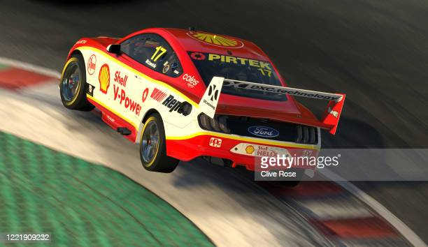 Scott McLaughlin driving the Shell VPower Racing Team Ford Mustang in action during round 4 of the Supercars All Stars Eseries at Circuit Gilles...