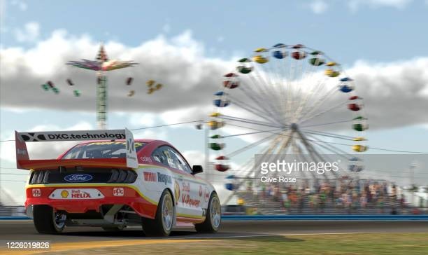Scott McLaughlin driving the Shell VPower Racing Team Ford Mustang in action during round 7 of the Supercars All Stars Eseries at Daytona...