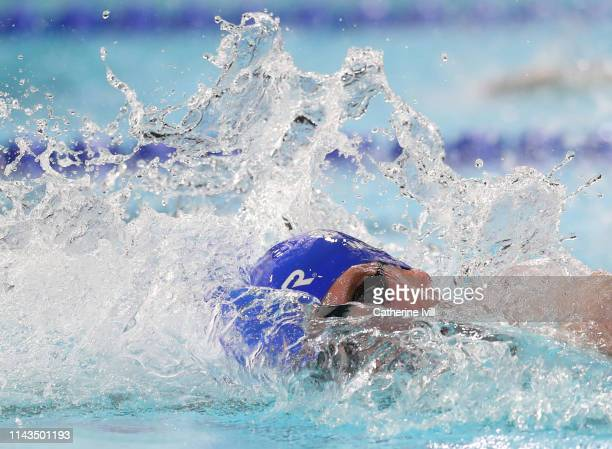Scott McLay competes in the Men's 100 Freestyle heats during Day Three of the British Swimming Championships 2019 at Tollcross International Swimming...