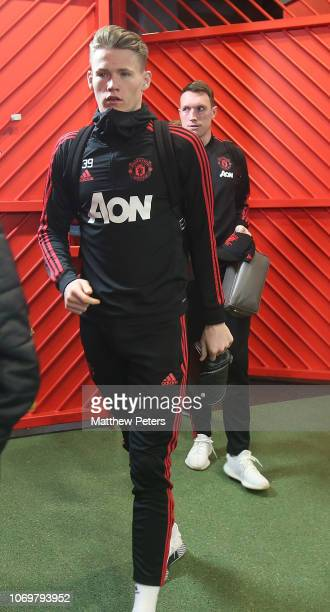 Scott McTominay of Manchester United arrives ahead of the Premier League match between Manchester United and Fulham FC at Old Trafford on December 8...