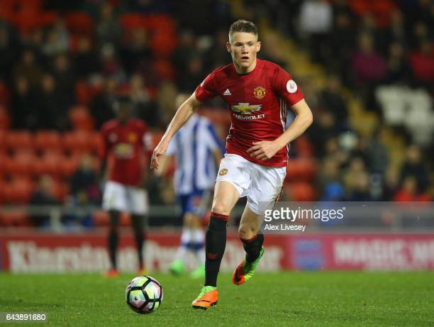 Scott McTominay of Manchester United during the Premier League International Cup Quarter Final match between Manchester United U23 and Porto B at...