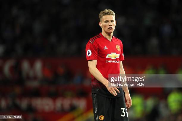 Scott McTominay of Manchester United during the Premier League match between Manchester United and Leicester City at Old Trafford on August 10 2018...
