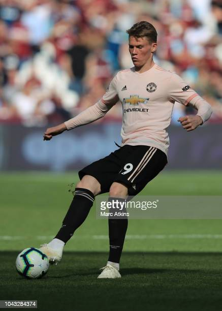 Scott McTominay of Manchester United during the Premier League match between West Ham United and Manchester United at London Stadium on September 29...