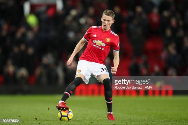Scott McTominay of Manchester United during the Premier League match between Manchester United and Stoke City at Old Trafford on January 15 2018 in...