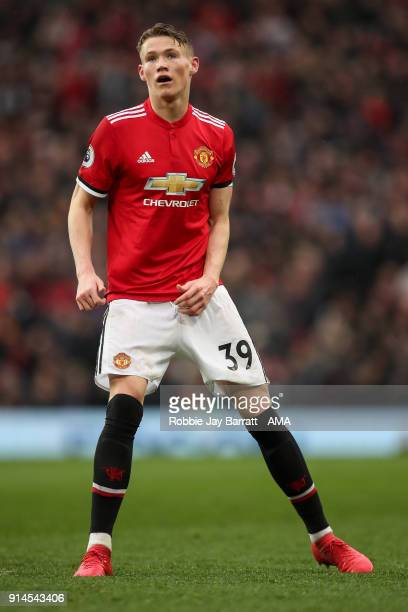 Scott McTominay of Manchester United during the Premier League match between Manchester United and Huddersfield Town at Old Trafford on February 3...