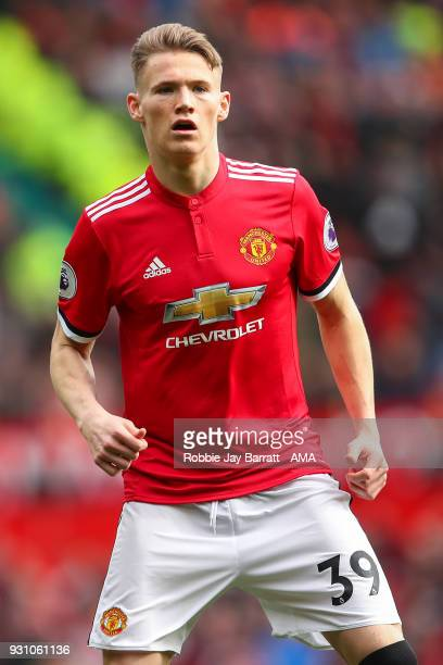 Scott McTominay of Manchester United during the Premier League match between Manchester United and Liverpool at Old Trafford on March 10 2018 in...