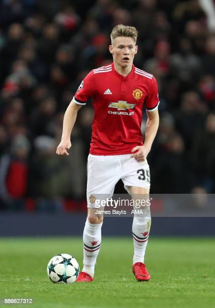 Scott McTominay of Manchester United during the UEFA Champions League group A match between Manchester United and CSKA Moskva at Old Trafford on...