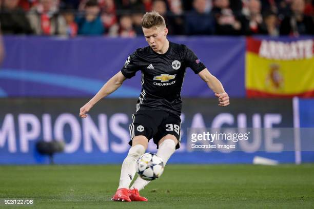 Scott McTominay of Manchester United during the UEFA Champions League match between Sevilla v Manchester United at the Estadio Ramon Sanchez Pizjuan...