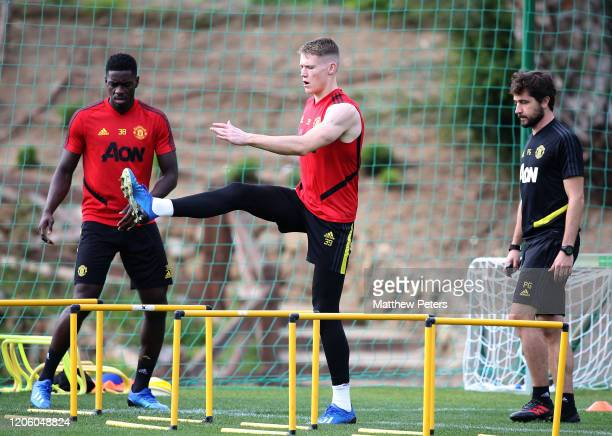 Scott McTominay of Manchester United in action during a first team training session on February 13 2020 in Malaga Spain