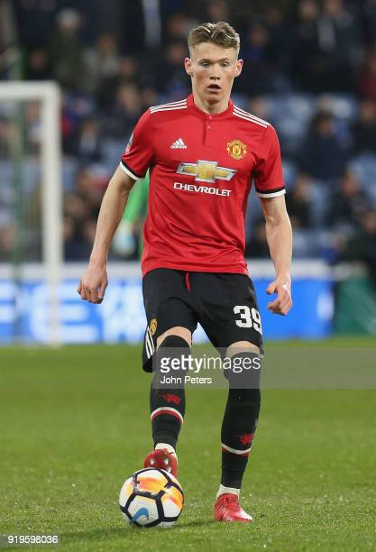 Scott McTominay of Manchester United in action during the Emirates FA Cup Fifth Round match between Huddersfield Town and Manchester United at...