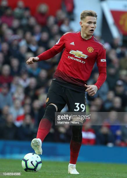 Scott McTominay of Manchester United in action during the Premier League match between Manchester United and Newcastle United at Old Trafford on...