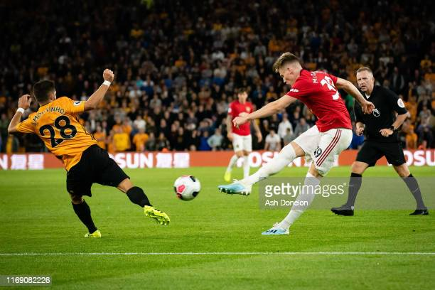 Scott McTominay of Manchester United in action during the Premier League match between Wolverhampton Wanderers and Manchester United at Molineux on...