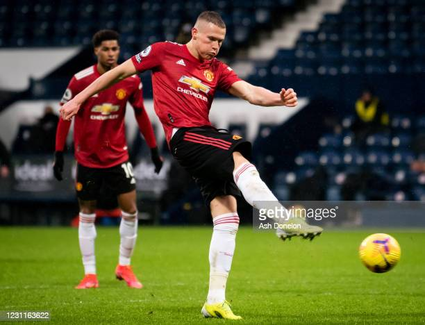 Scott McTominay of Manchester United in action during the Premier League match between West Bromwich Albion and Manchester United at The Hawthorns on...