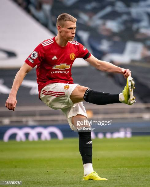 Scott McTominay of Manchester United in action during the Premier League match between Tottenham Hotspur and Manchester United at Tottenham Hotspur...