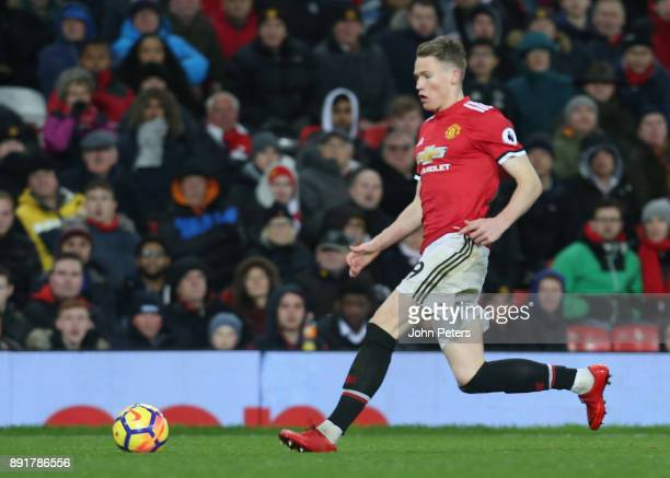 Scott McTominay of Manchester United in action during the Premier League match between Manchester United and AFC Bournemouth at Old Trafford on...
