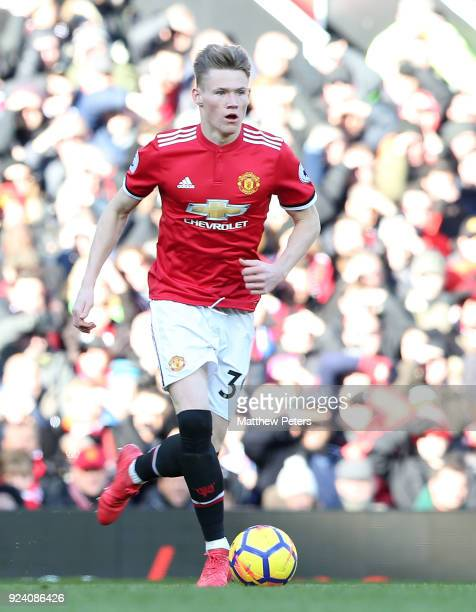 Scott McTominay of Manchester United in action during the Premier League match between Manchester United and Chelsea at Old Trafford on February 25...