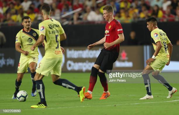 Scott McTominay of Manchester United in action during the preseason friendly match between Manchester United and Club America at University of...